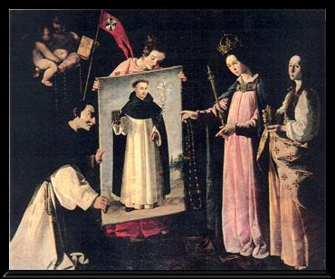 Sto. Domingo de Guzmán / Nª Sª del Rosario - s. XVII Zurbar11