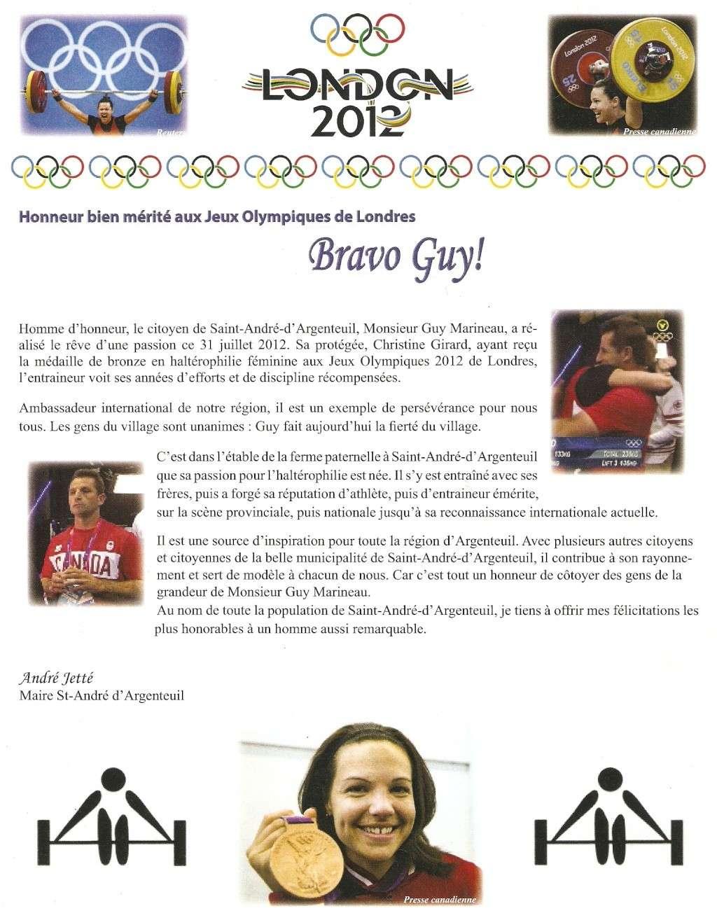 Nous sommes fiers de Guy Marineau (JO 2012) Numari22