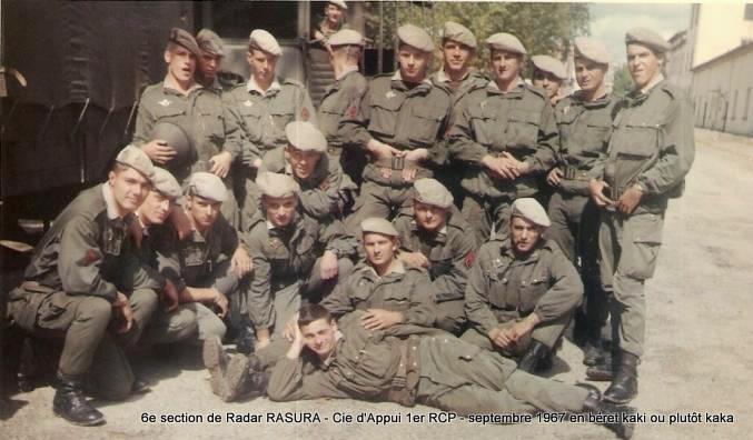 1967 - 6e section radar RASURA 1er RCP, une amitié qui perdure encore, après plus de 40ans 1er_rc10