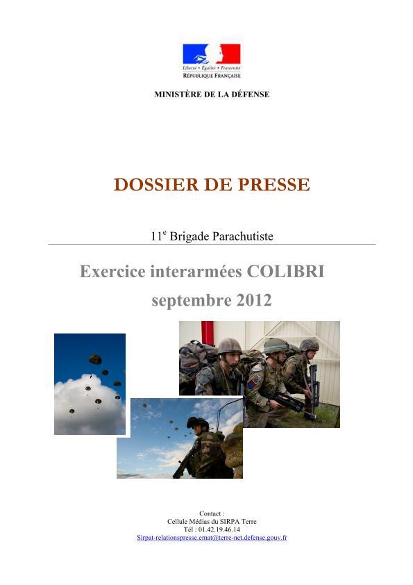 11ème Brigade Parachutiste - Exercice Interalliés COLIBRI septembre 2012 2012_014