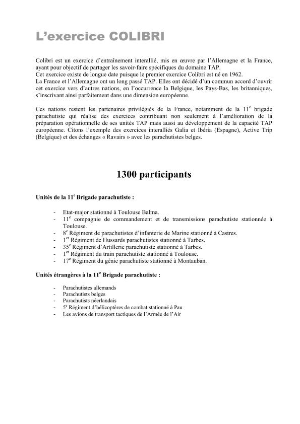 11ème Brigade Parachutiste - Exercice Interalliés COLIBRI septembre 2012 2012_017