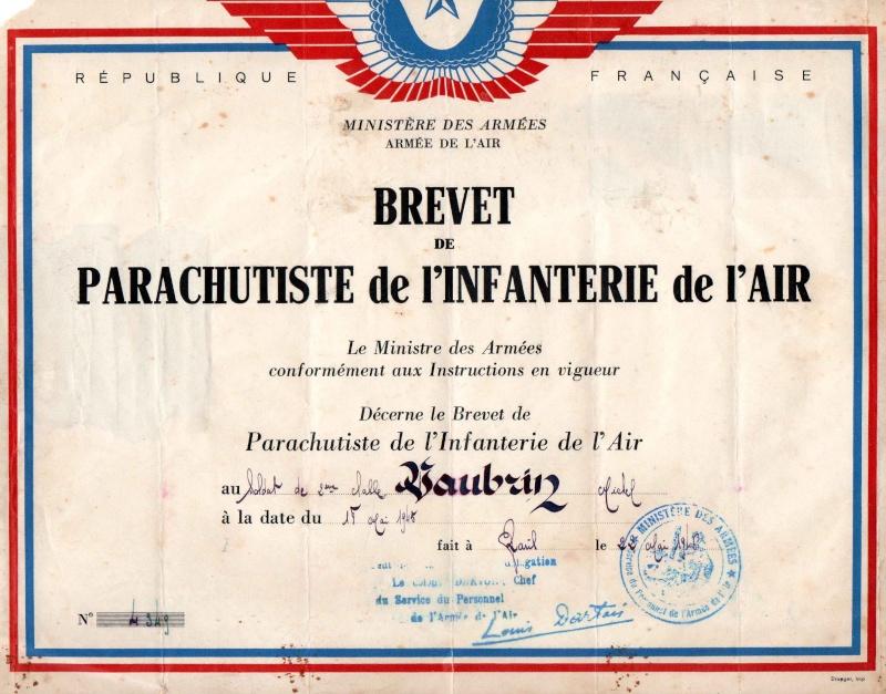 VAUBRUN Michel brevet 4349 1er RCP Brevet10