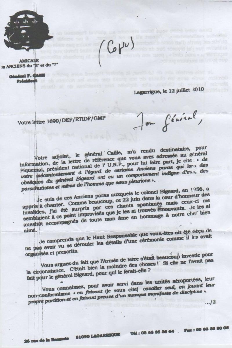 DARY, PIQUEMAL, CANN tous 3 généraux - Cérémonie Invalides Bigeard : Polémique Gouverneur de Paris et parachutistes vétérans Cann_g10