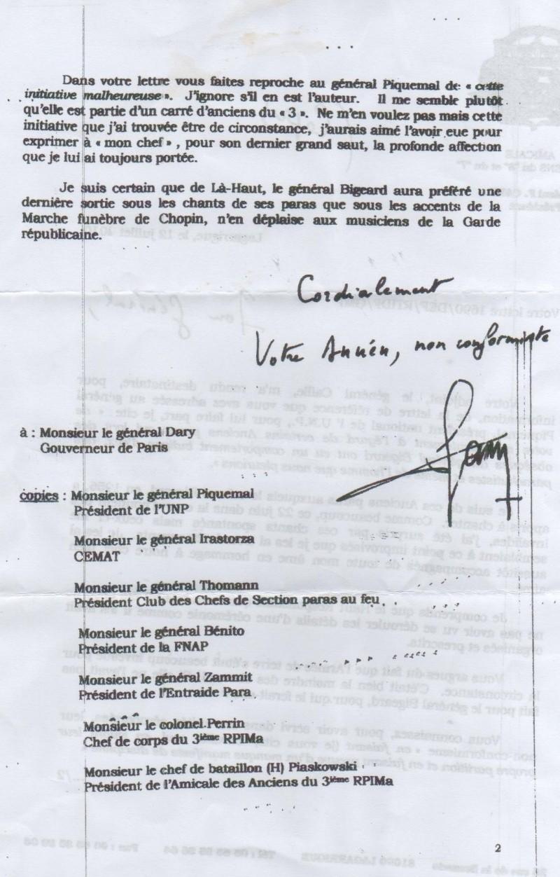 DARY, PIQUEMAL, CANN tous 3 généraux - Cérémonie Invalides Bigeard : Polémique Gouverneur de Paris et parachutistes vétérans Cann_g11