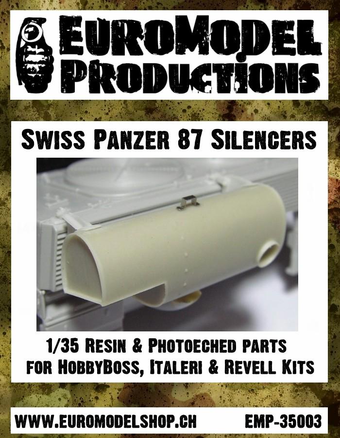Nouveauté EuroModel - 1/35 Sourdines pour Panzer 87 Emp-3510