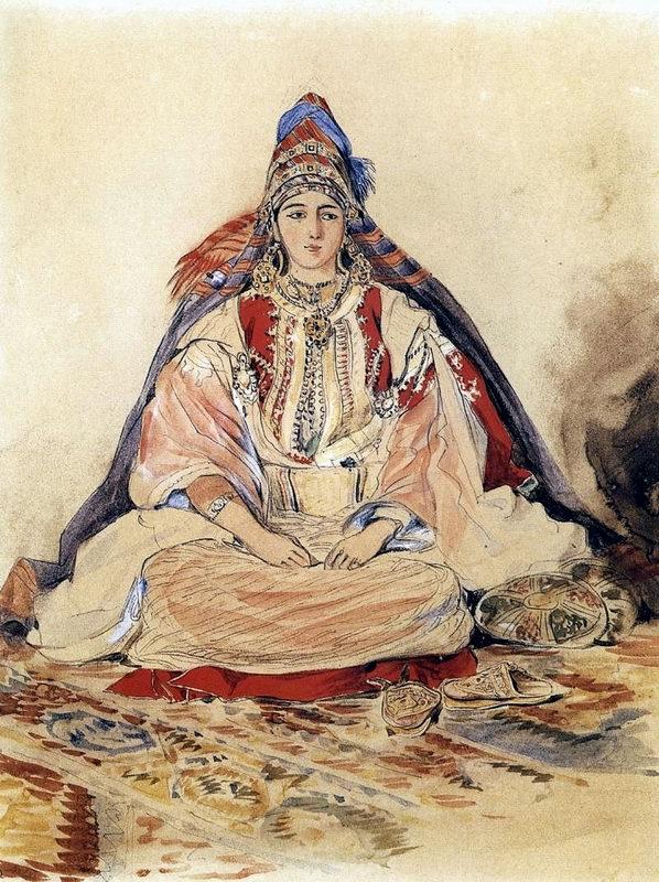 SOIR DU HENNE AVEC  LA KESOUA EL KBIRA (grande robe en arabe) Mariee10
