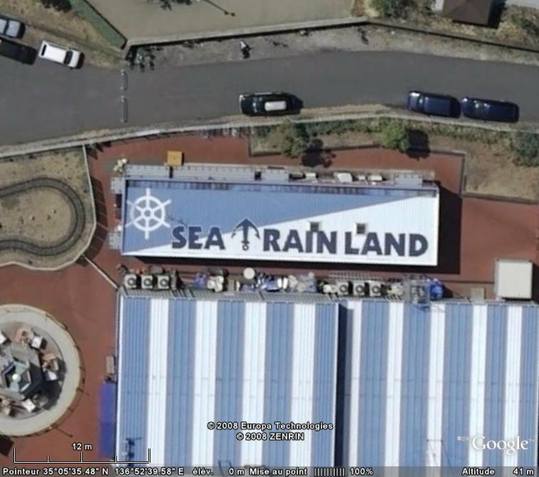 "Écriture ""SEA TRAINLAND"", Port de Nagoya - Japon Sea_tr10"