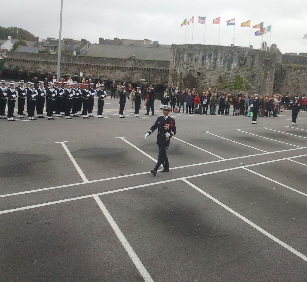 Reportage cérémonie de tradition Ecole des fusiliers à Concarneau 1013