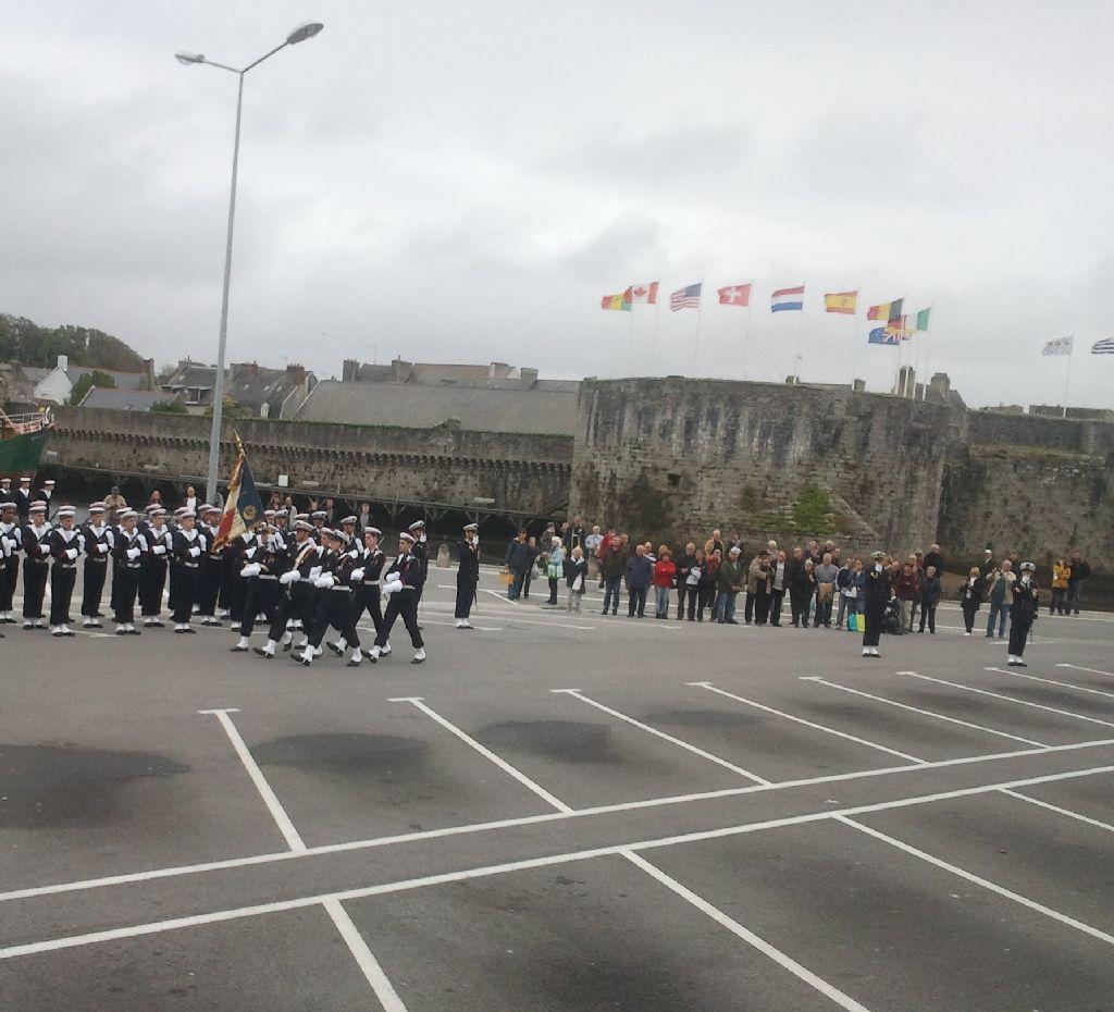Reportage cérémonie de tradition Ecole des fusiliers à Concarneau 1114