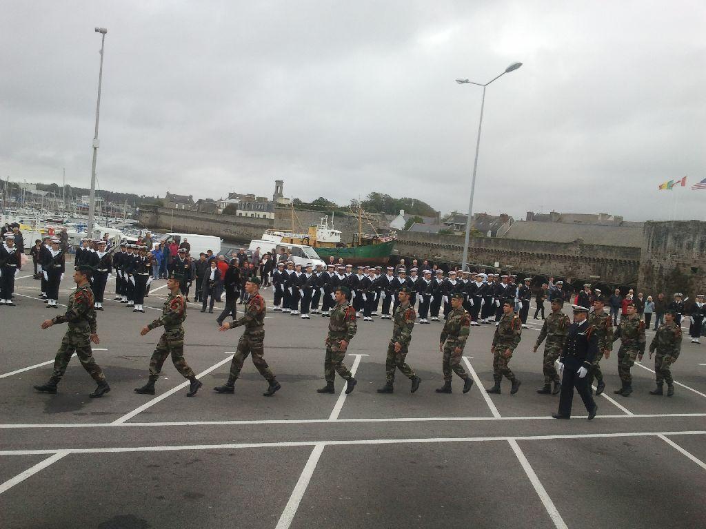 Reportage cérémonie de tradition Ecole des fusiliers à Concarneau 1817