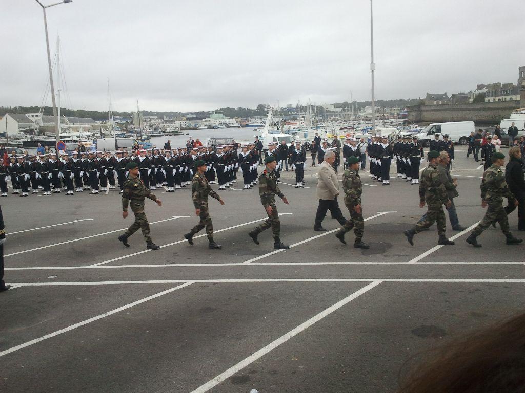Reportage cérémonie de tradition Ecole des fusiliers à Concarneau 2613