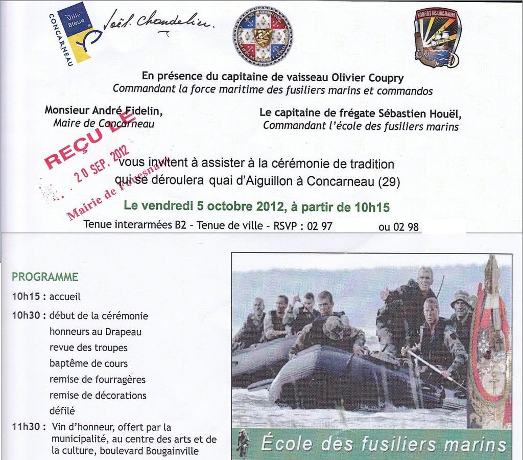 [Les écoles de spécialités] ÉCOLE DES FUSILIERS - Page 4 Invit10