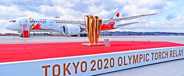 LA FLAMME OLYMPIQUE DES JEUX DE TOKYO 2020 EST ARRIVEE AU JAPON 2020-016
