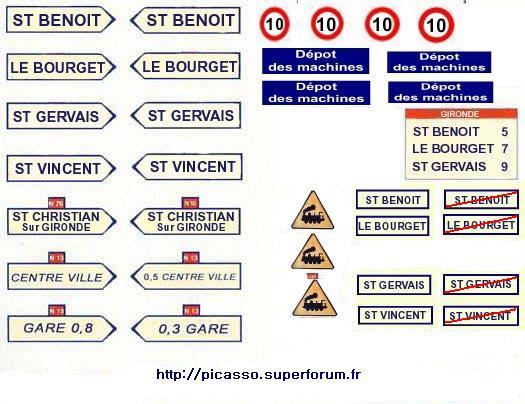 étiquette de panneaux routier mimo Pannea12