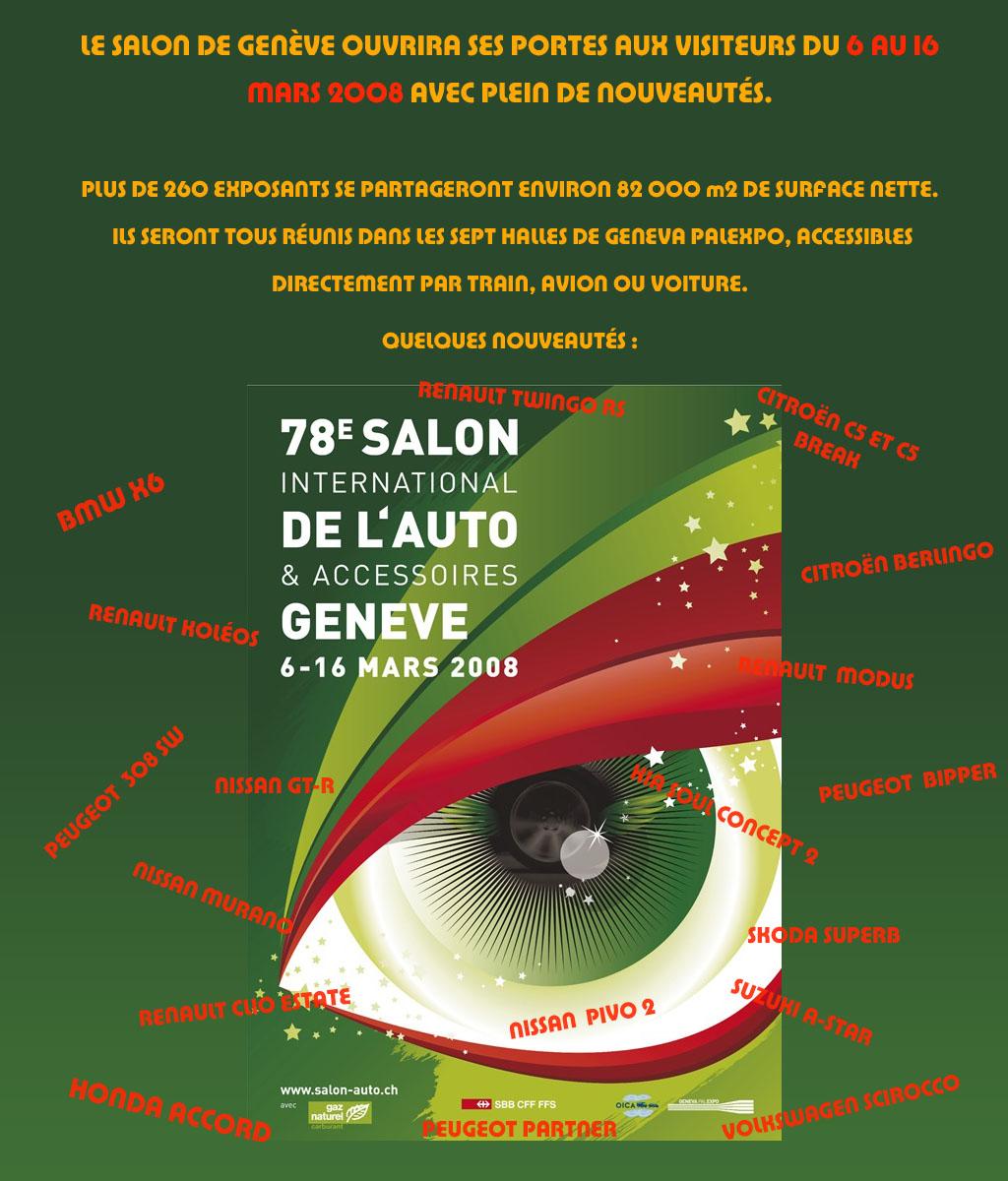 2008 - [Suisse] Salon de Genève Affich10