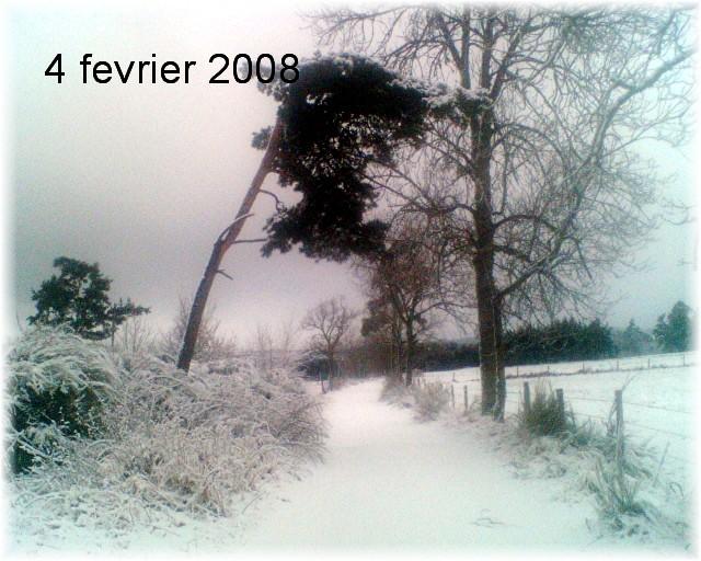 Le temps à Madelonnet du mois de Février 2008 2008_010