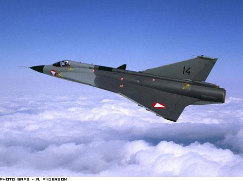 Avions Saab - Suède Draken10