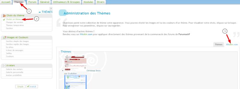 Intégration de Hitskin à l'administration + Gestion des thèmes temporaires 122