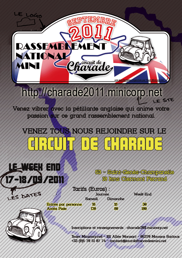 17/09/11 - Rassemblement National Mini Circuit Charade (63) Affich10