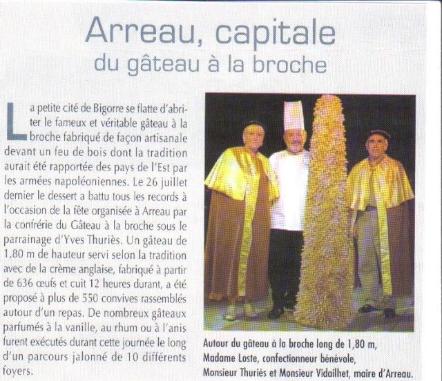 """Fête du Gateau à la Broche""""ARREAU"""" Gateau10"""