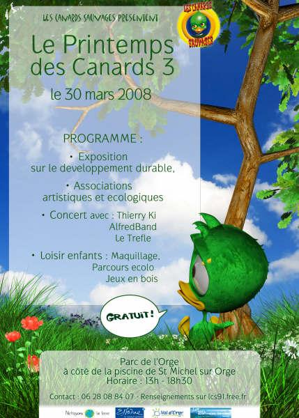 Les Canards Sauvages organisent le Printemps des Canards 3 Affich10