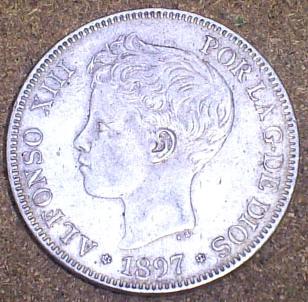 5 Pesetas de Alfonso XIII (Madrid, 1897 d.C) 5_pese10