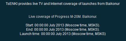 Lancement Soyouz-U / Progress M-20M - 27 juillet 2013 Lancem11