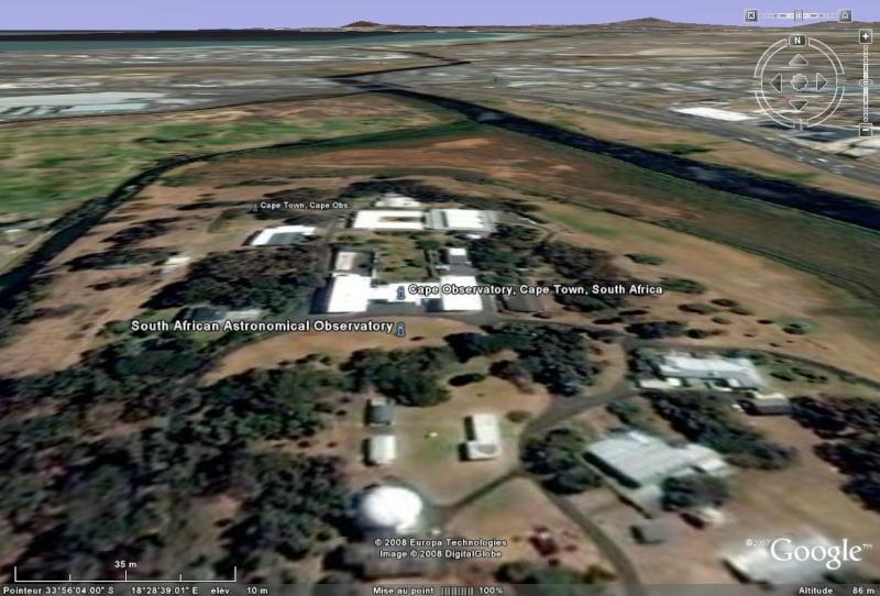 Observatoires astronomiques vus avec Google Earth Ge10