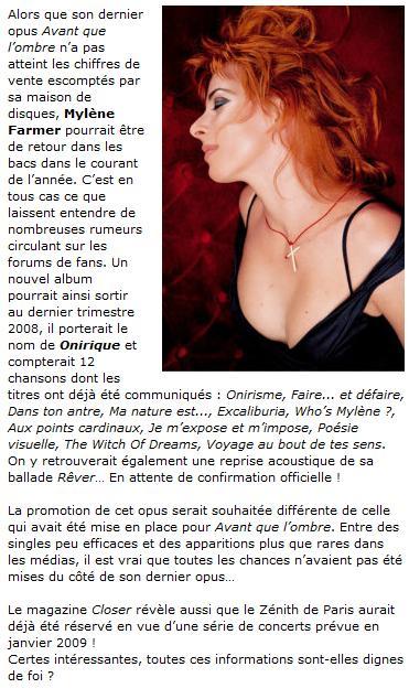 Le retour de Mylène Mf10