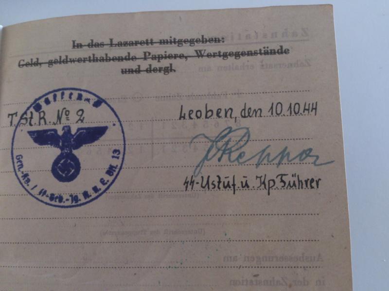 Vos livrets militaires allemands WWII (Soldbuch, Wehrpass..) / Heer-LW-KM-SS... Dsc_0034