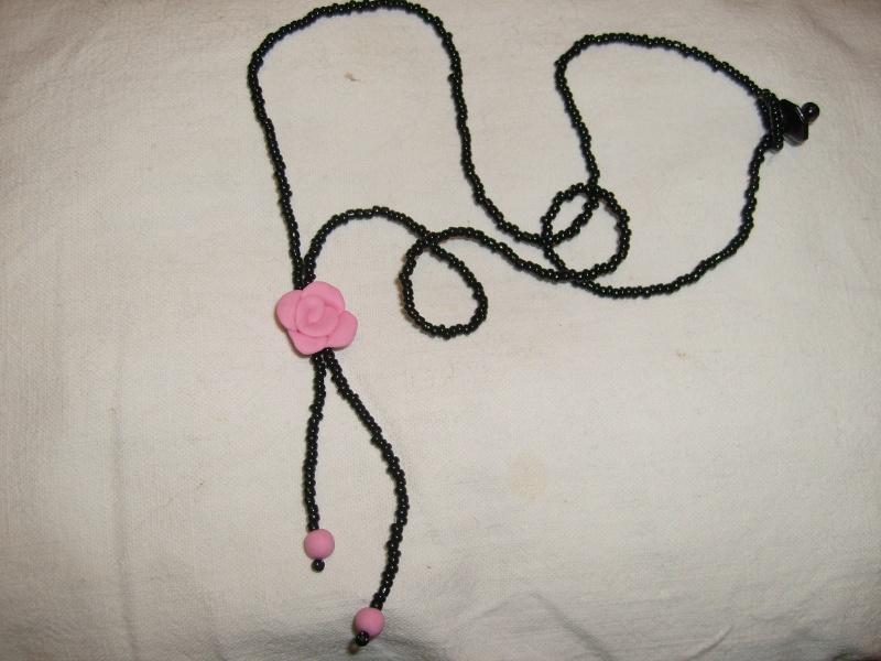 collier en perles et pate fimo S7301217