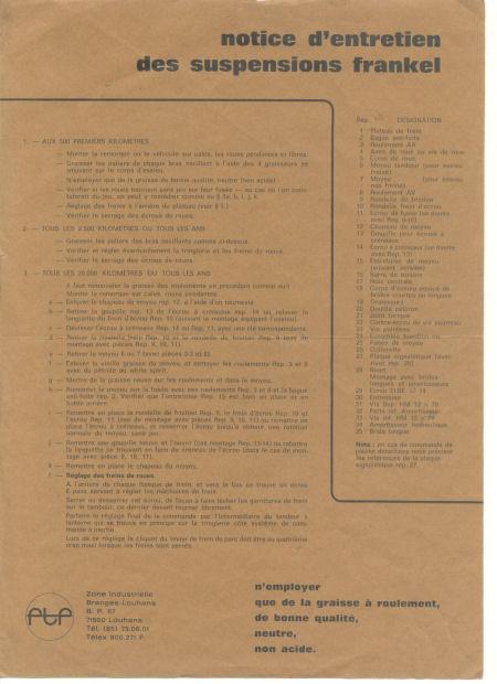 Révision des freins Suspen11
