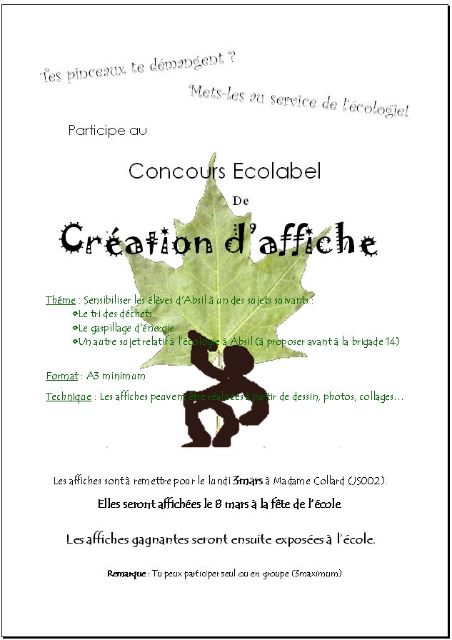 Concours ECOLABEL - Page 2 Affich11