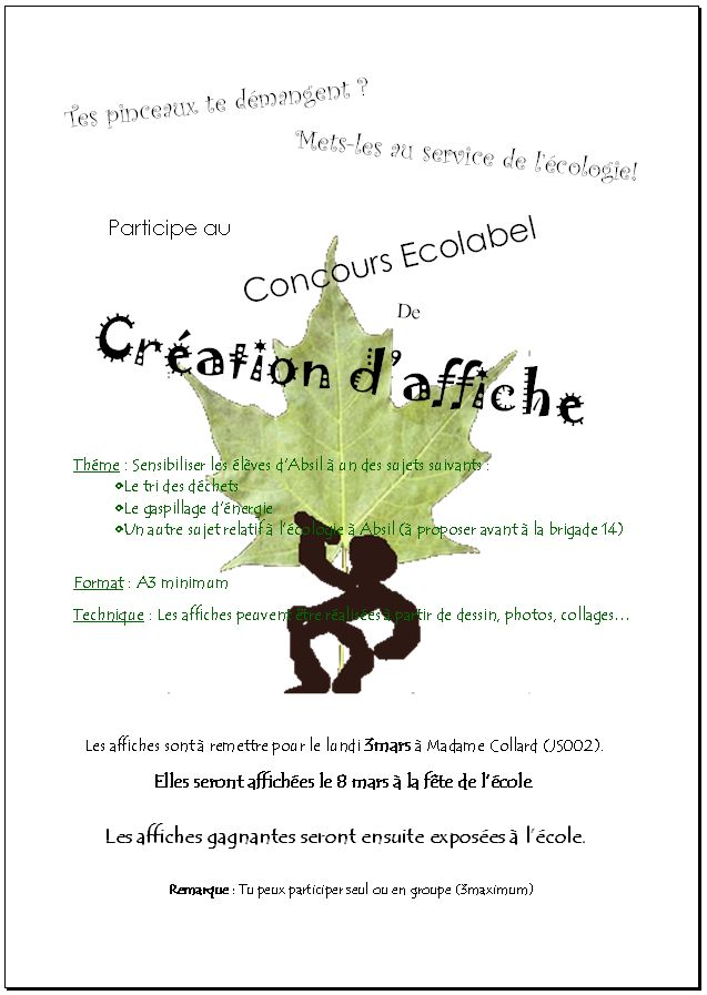 Concours ECOLABEL - Page 2 Affich12