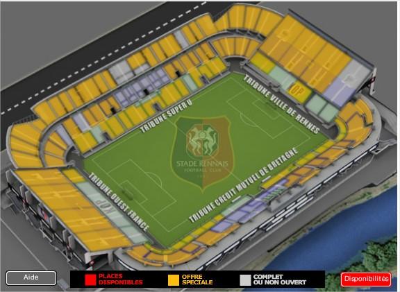 Rennes-Montpellier samedi 20h Stade de la route de Lorient . Stade11