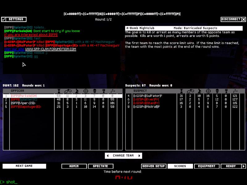   SFP   vs GISP  27.01.08 Result WON 2-0 Shot0011