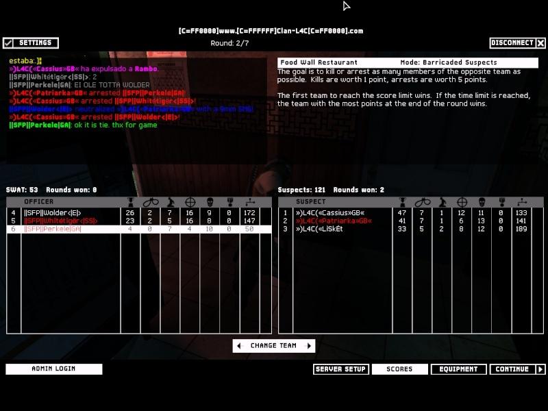 ||SFP|| VS L4C 5.2.08 Result TIE Swat4-13