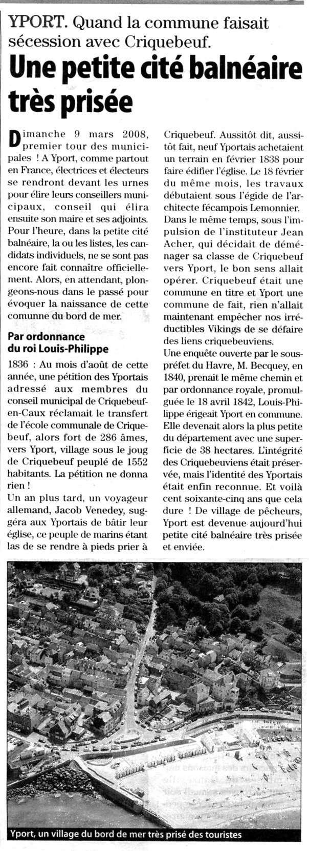 Yport fait sécession avec Criquebeuf Yport10