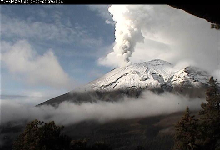 Le volcan Popocatepetl - Mexique Volcan10