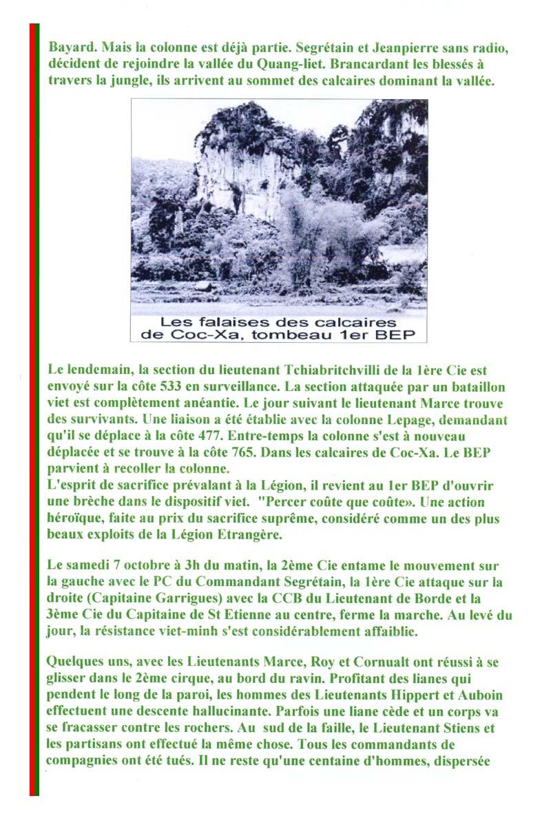 SEGRETAIN Pierre - Chef de bataillon - 1er RCP - 1er BEP tombé le 8 octobre 1950 2_page10
