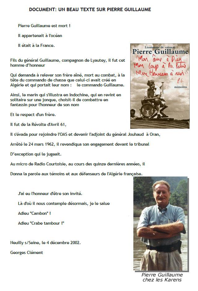 GUILLAUME Pierre Lieutenant de Vaisseau Hommage au Crabe Tambour Homme de conviction 3_crab11