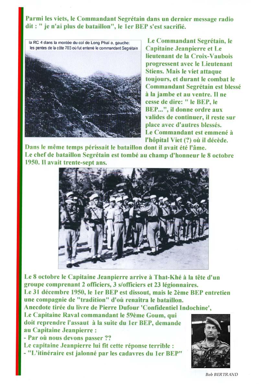 SEGRETAIN Pierre - Chef de bataillon - 1er RCP - 1er BEP tombé le 8 octobre 1950 3_page10