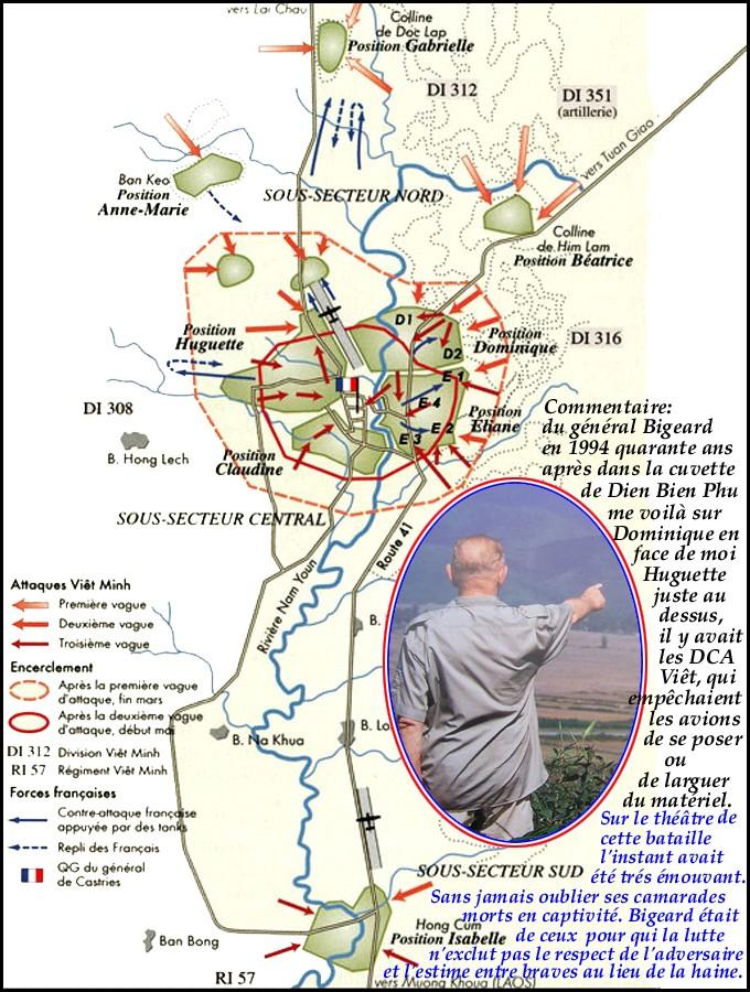 Guerre d'Indochine parcours de Marcel Bigeard 1945/1954 6_plan10