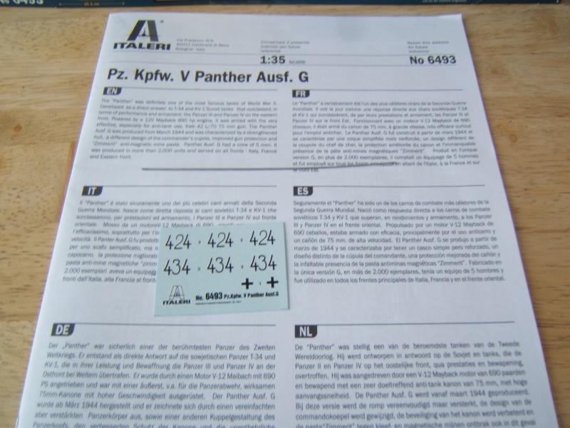 """Panther  Auf  G   """"Italeri 1/35"""" Dscf7324"""