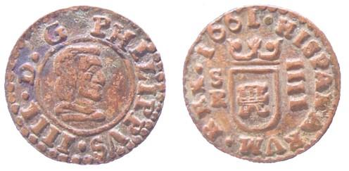 2 Mrs. de Felipe IV  (Sevilla, 1662 d.C) ¿falsa? 4mrs_s10