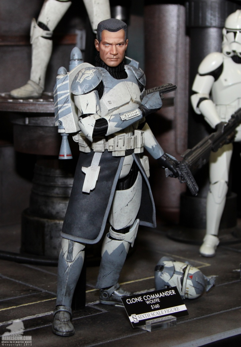 Sideshow Collectibles 1/6 Scale Clone Commander Wolffe  Sdcc_253