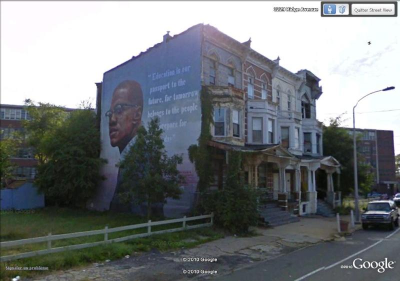 STREETVIEW : les fresques murales de Philadelphie  Malcol10