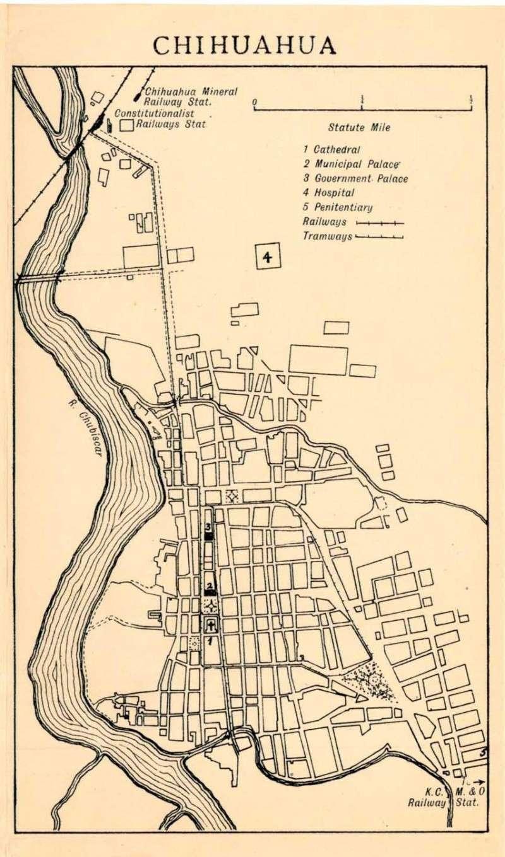 Mapas de México, año de 1919: Chihuahua. Chihua10