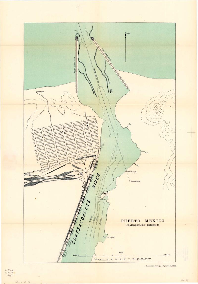Mapas de México, año de 1919: Coatzacoalcos. Coatza10
