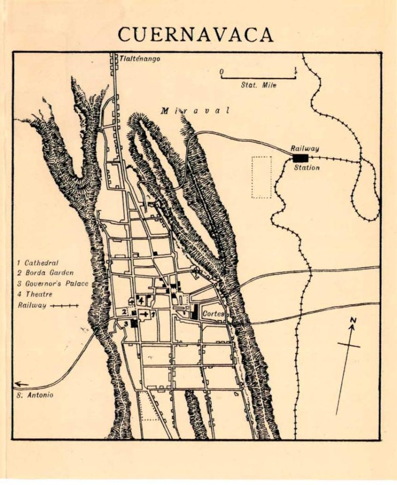 Mapas de México, año de 1919: Cuernavaca. Cuerna10